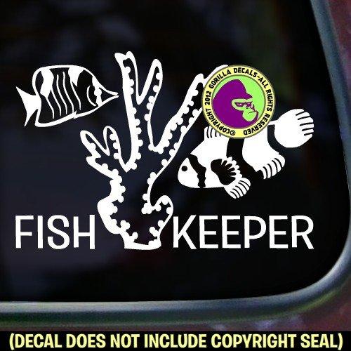 FISH KEEPER Aquarium Vinyl Decal Sticker D