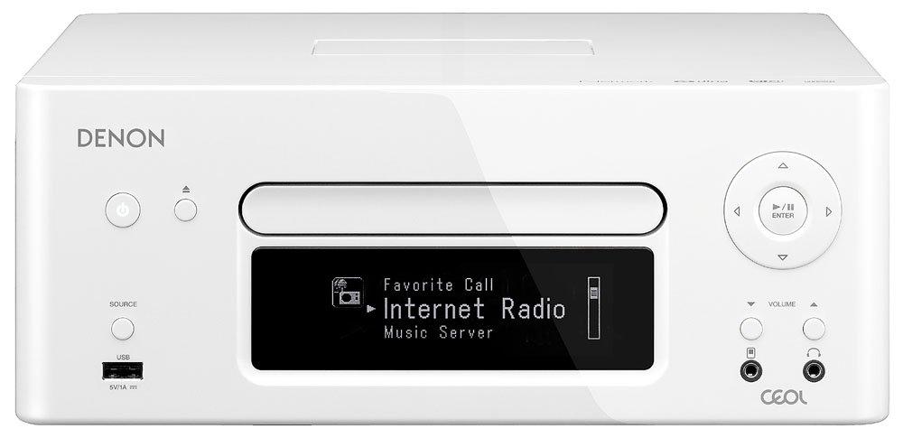 DENON CEOL ネットワークCDレシーバー AirPlay/ハイレゾ音源対応 ホワイト RCD-N8-W B009RI9LTW ホワイト