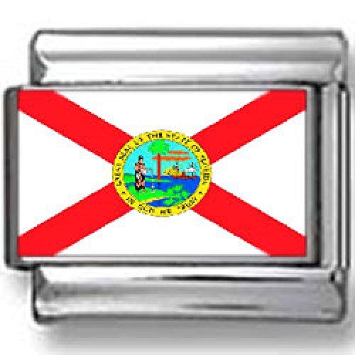 Florida State Flag Italian charm - Florida Italian Charm