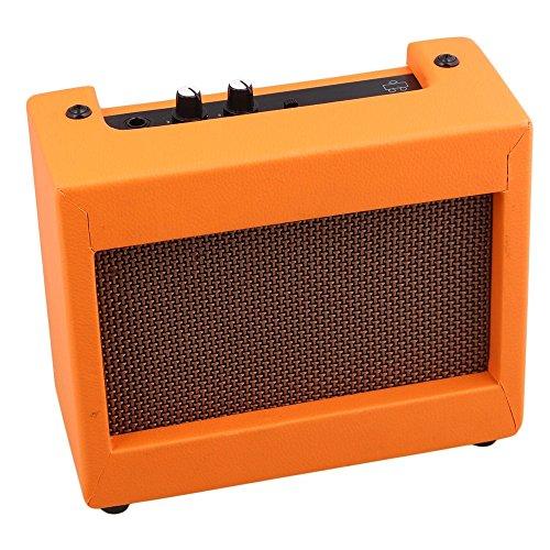 Plastic Orange Guitar Amplifier 9V/5W Portable Small Guitar Loudspeaker by SYLIFE