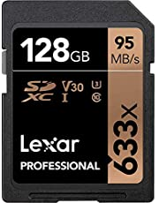 Lexar Professional 633x 128GB SDXC UHS-I Card w/Image Rescue 5 Software - LSD128GCB1NL633