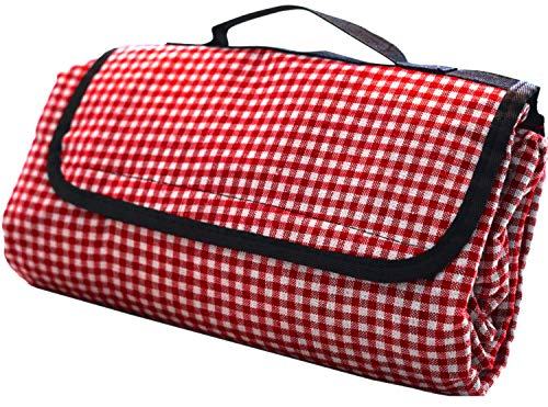 - Extra Large Picnic Blanket | Oversized Beach Blanket Sand Proof | Outdoor Accessory for Handy Waterproof Stadium Mat | Water-Resistant Layer Outdoor Picnics | Great for Camping on Grass and Portable