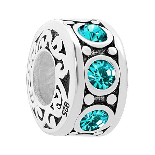 LilyJewelry 925 Sterling Silver Beads For Bracelets (December)