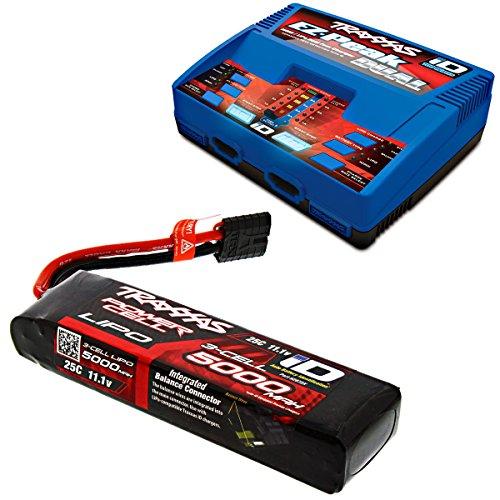 (Traxxas 1/10 E-Revo Brushless 5000 mAh 3S 25C 11.1V LiPo BATTERY iD & CHARGER)