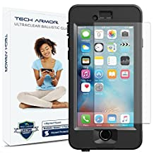 "Tech Armor iPhone 6 Plus & iPhone 6S Plus (5.5"") Lifeproof Nuud Ballistic Glass Screen Protector - Protect Your Screen from Drops - 99.99% Clarity and Touch Accuracy"