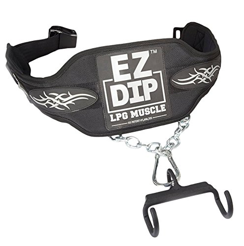 PERFECT PULL UP COMBO. 'FREESTYLE' HANDLES & DIP BELT by PULL FORCE/EZ DIP