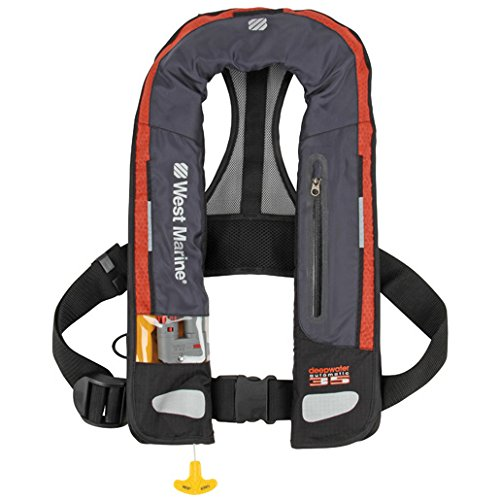 West Marine Deep Water Automatic Inflatable Life Jacket by West Marine