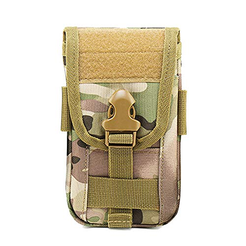 Tactical Molle Phone Pouch Holder Holster 600D Nylon Waist Bag with Belt Clip for iPhone Xs Max XS 8 7 Plus Money Pocket Purse Samsung S8 Plus S7 Edge Plus LG G6/G5 (Camouflage)