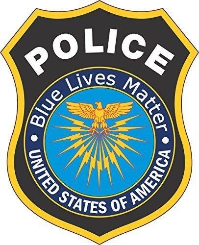 StickerTalk 4inx5in Blue Lives Matter Car Decals Stickers