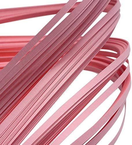 PH PandaHall 1200 Strips Paper Quilling Strips Pink Quilling Strip Set 3mm Width 39cm Length