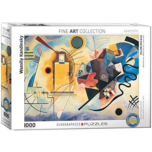 EuroGraphics Gelb Rot Blau by Kandinsky 1000 Piece Puzzle