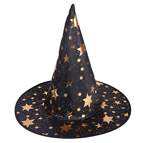 HDE Witch Hat Halloween Costume Cosplay Wicked Witch Accessory Adult One Size (Multicolored) -