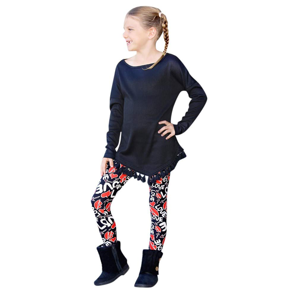 AKwell Mother Daughter Christmas Multi-Colored Letter Heart Pattern Footless Leggings Pants Parent-Child Pants