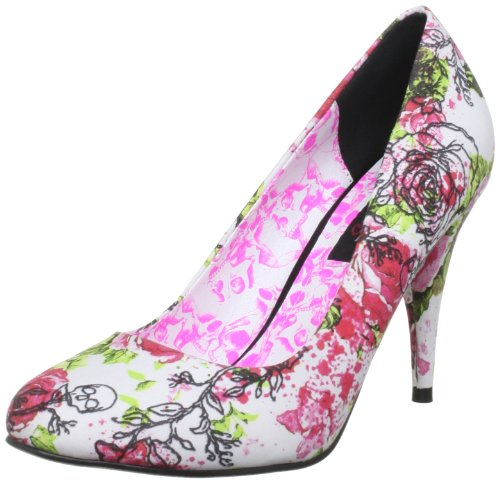 Iron Fist  Creepy Rose Heel,  Damen Pumps Weiß