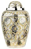 Silver and Gold Dynasty Brass Cremation Urn