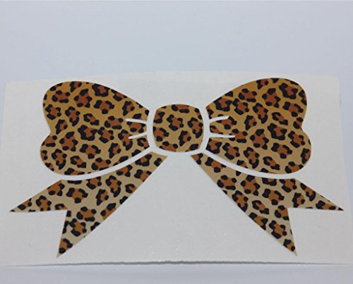 Leopard Print Bow Decal bumper sticker 5