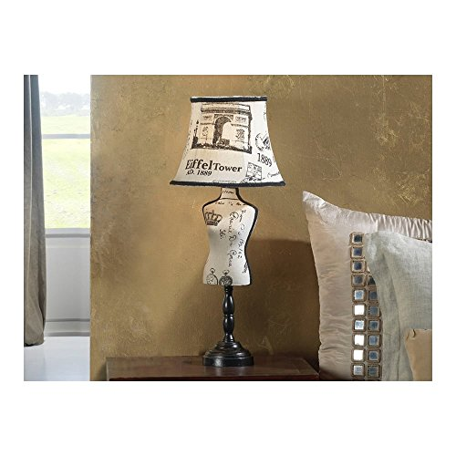 Schuller Spain 764851I4L Vintage White Mannequin Table Lamp Black 1 Light Living Room, bed room, Study, Bedroom LED, Vogue Mannequin table Lamp | ideas4lighting by Schuller