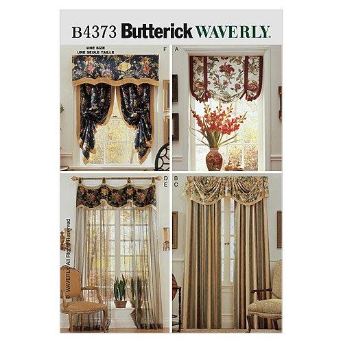 Butterick Patterns B4373 Window Treatments, All Sizes - Butterick Window Treatment Patterns
