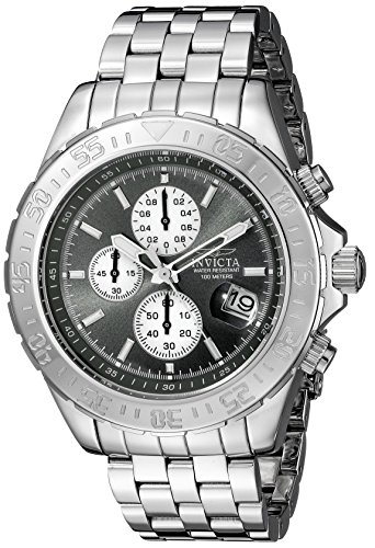 Invicta Men's 18850 Aviator Analog Display Japanese Quartz Silver Watch