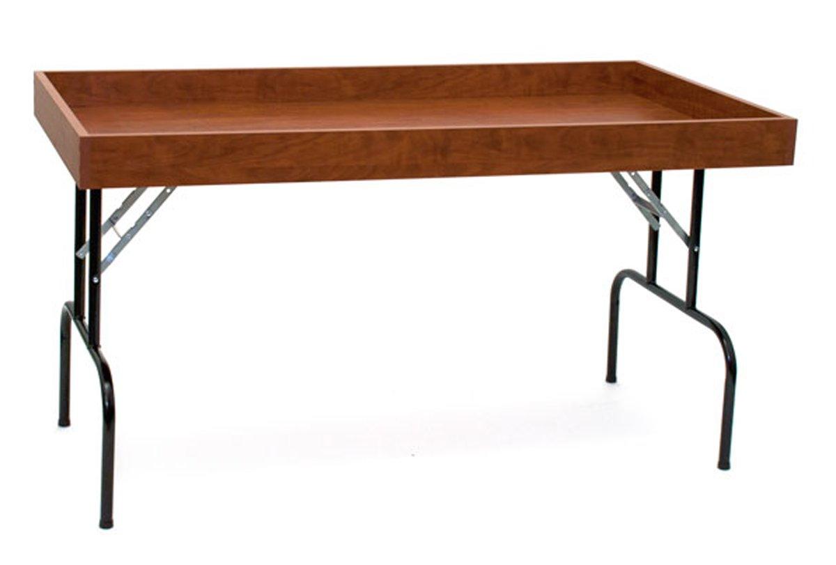 Retail Display Dump Folding Table 30''W x 60''L Ship Knockdown Cherry Lot of 2 NEW