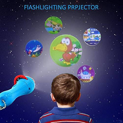 Linterna infantil con proyector, color azul: Amazon.es: Hogar