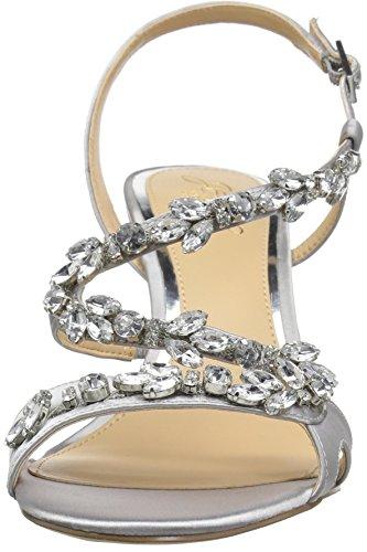 Badgley Mischka Women's Ganet Heeled Sandal Silver JhVWZ9udd