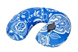 U Pillow Inflatable Pillow Travel Neck Rest Pillow Outdoor Pillow Blue and White - U Pillow Inflatable Pillow Travel Neck Rest Pillow Outdoor Pillow Blue and White