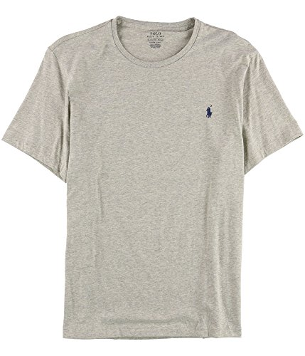 Polo Ralph Lauren Mens Cotton Embroidered T-Shirt Gray - Lauren Xxl Tshirts Ralph
