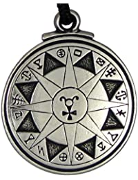 Talisman For Safety in Travel Black Pullet Pentacle Pendant Hermetic Pagan Wiccan Jewelry