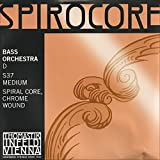 Thomastik-Infeld Spirocore 3/4 Upright Double Bass D String - Medium Gauge - Chromesteel Wound Flexible Spiral Steel Core