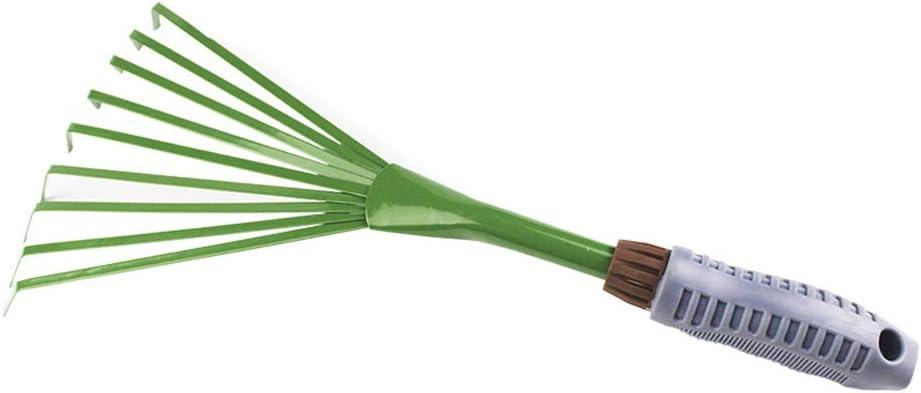 Kylewo Escobas y rastrillos de jardín, cepillos de Alambre para Barrer los desechos del jardín, en Hierro, Mango ergonómico, protección anticorrosión, Mango ergonómico en PVC Blando