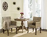 Safavieh Home Collection Armando Natural Wicker Dining Chair (Set of 2), 18″