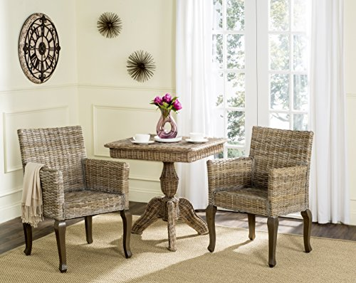 Safavieh Home Collection Armando Natural Wicker Dining Chair Set of 2 , 18