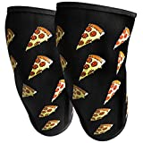 Aklivity Pizza Slice Design on 7mm Knee Compression Sleeves for Powerlifting, Weightlifting, Crossfit