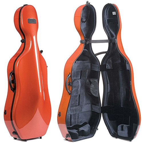 Bam France New Tech 1002Nw Terracotta Black 4 4 Cello Case With Wheels