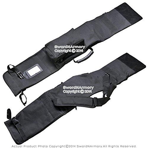 "Munetoshi 43.5"" Dojo Training Iaido Iaito Sword Carrying Bag with Strap Samurai Katana Travel Case Wakizashi Bokken Staff Bo Medieval Weapon Kung Fu Holder"