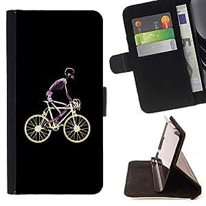 - Bicycle Cute Pattern/ Personalizada del estilo del dise???¡Ào de la PU Caso de encargo del cuero del tir????n del soporte d - Cao - For Samsung Galaxy S6 EDGE