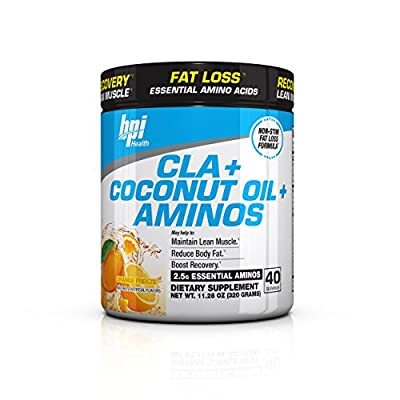 BPI Sports Cla + Coconut Oil + Aminos Non Stimulant Fat Loss Supplement Powder
