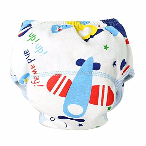 Baby Training Pants, Misaky Cotton Reusable Cloth Diaper Washable Nappies (0-6 M, (4 Tuxedo Chairs)