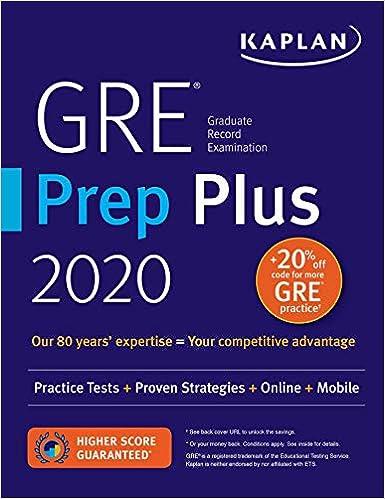 Best Gre Prep Book 2020 GRE Prep Plus 2020: Practice Tests + Proven Strategies + Online +