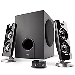 Cyber Acoustics Ca-3602ffp 2.1 Speaker Sound System With Subwoofer & Control Pod - Great For Music, Movies, Multimedia Pcs, Macs, Laptops & Gaming Systems