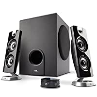 Cyber Acoustics CA-3602FFP 2.1 Speaker Sound System with Subwoofer and Control Pod – Great for Music, Movies, Multimedia Pcs, Macs, Laptops and Gaming Systems