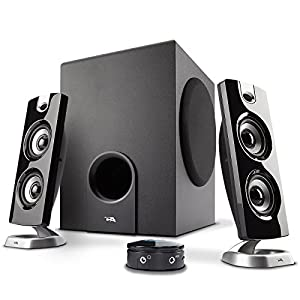 Cyber Acoustics CA-3602FFP 2.1 Speaker Sound System with Subwoofer and Control Pod – Great for Music, Movies, Multimedia…