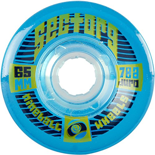 Sector 9 Top Self Nine Balls Skateboard Wheel, Blue, 65mm - Centerset Blue