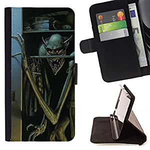 Momo Phone Case / Flip Funda de Cuero Case Cover - Boogie Man Niños de Halloween - Huawei Ascend P8 Lite (Not for Normal P8)