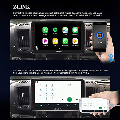 JOYING 10 1 Double Din Android 8 1 4GB + 64GB Car Stereo Built-in DSP LCD  Touchscreen with 4G SIM Card Slot & 1280×720P Reslution - Supprot Android