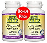 Cheap Natural Factors, Ubiquinol Active CoQ10 100mg, 60 Soft Gels BOGO (2)