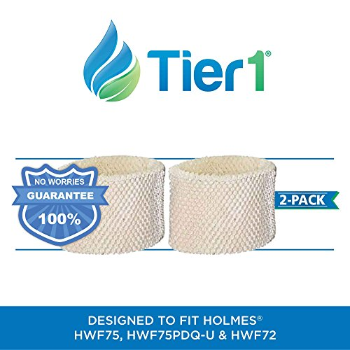 Tier1 HWF75PDQ-U Comparable Holmes HWF75 Type D Replacement Humidifier Filter for Holmes Models HWF75CS 2 Pack Pacific Air Filter