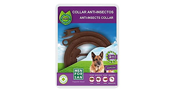 Amazon.com: Collar Anti-Insectos con Margosa 60 cm - Para Perros - Menforsan: Beauty