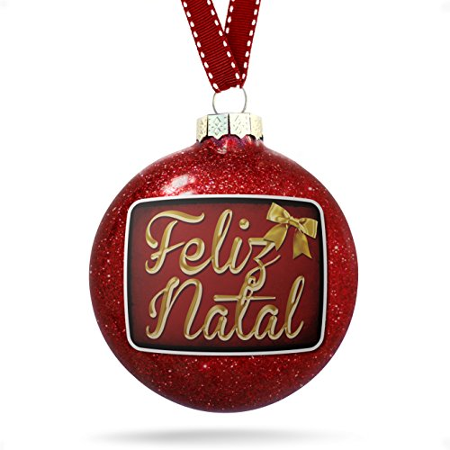 Christmas Decoration Merry Christmas in Portuguese from Portugal, Brazil, Cape Verde Ornament (Portuguese Christmas In)